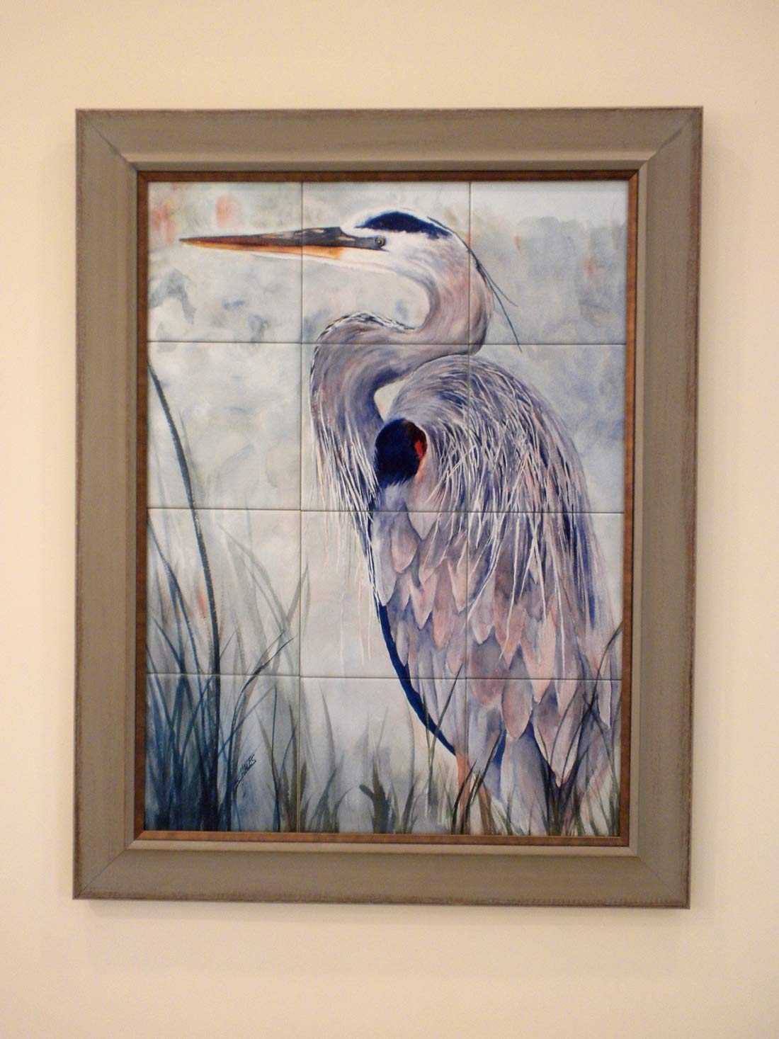 Blue Heron Tile Mural