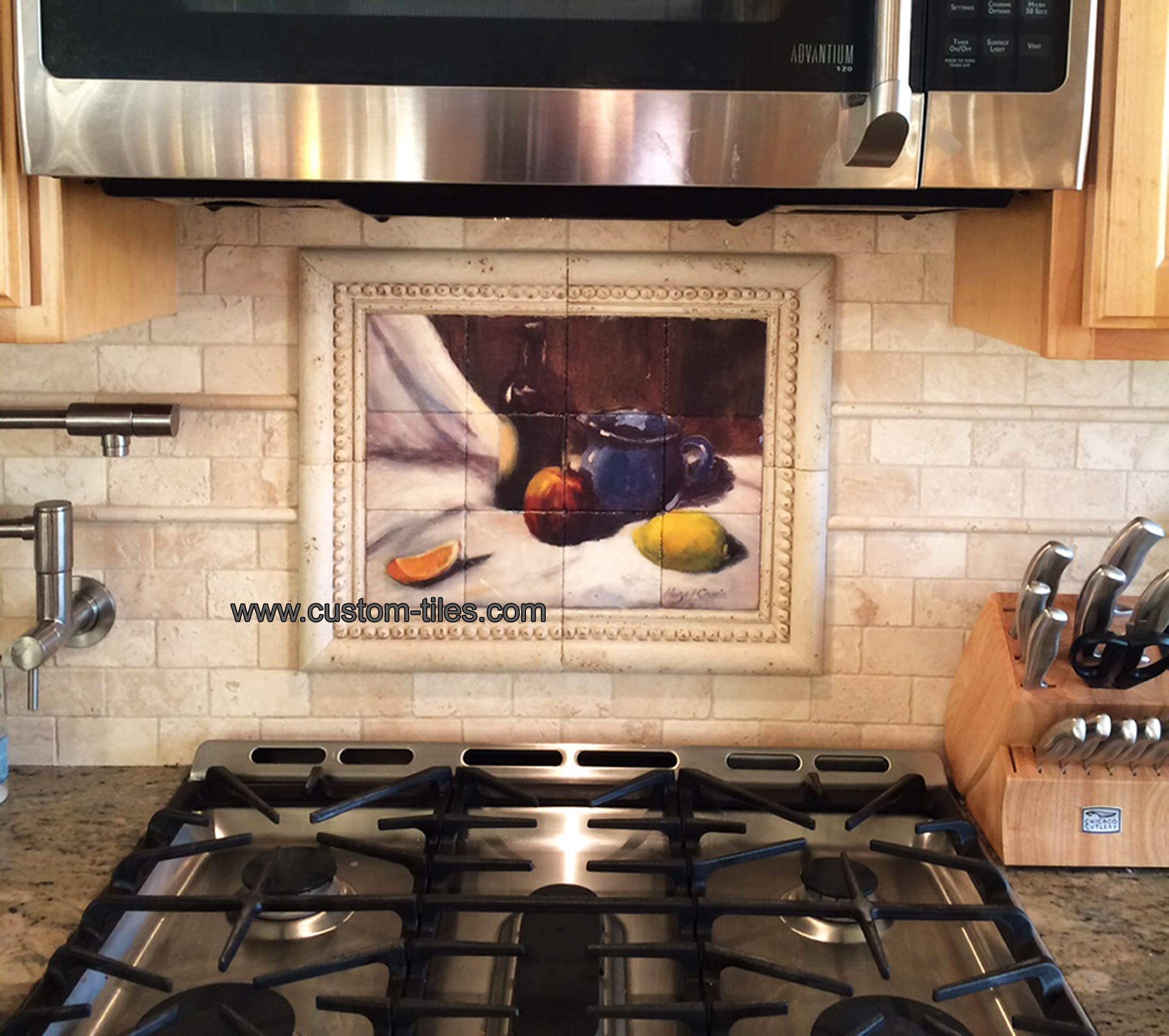 Blue Jug Custom Tile Mural Backsplash