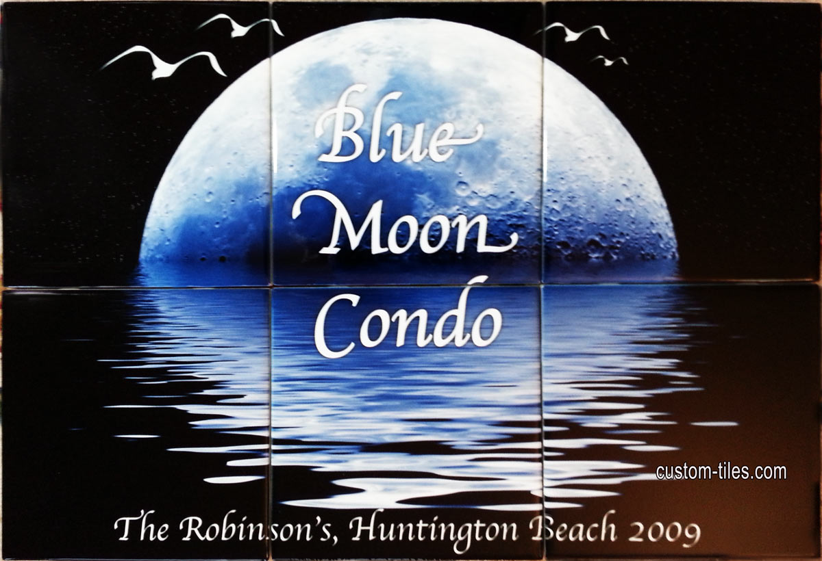 Blue Moon Tile Mural