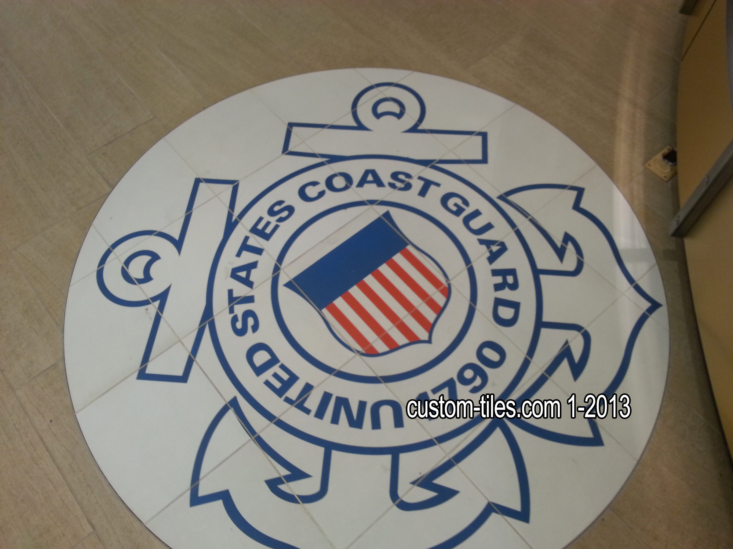 US Coast Guard Floor Tile Medallion