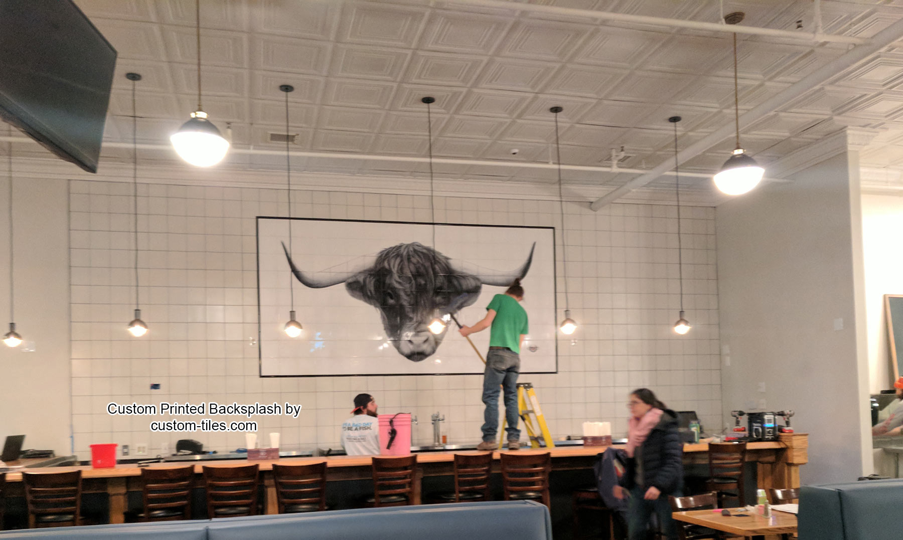 Cow Tile Mural Backsplash