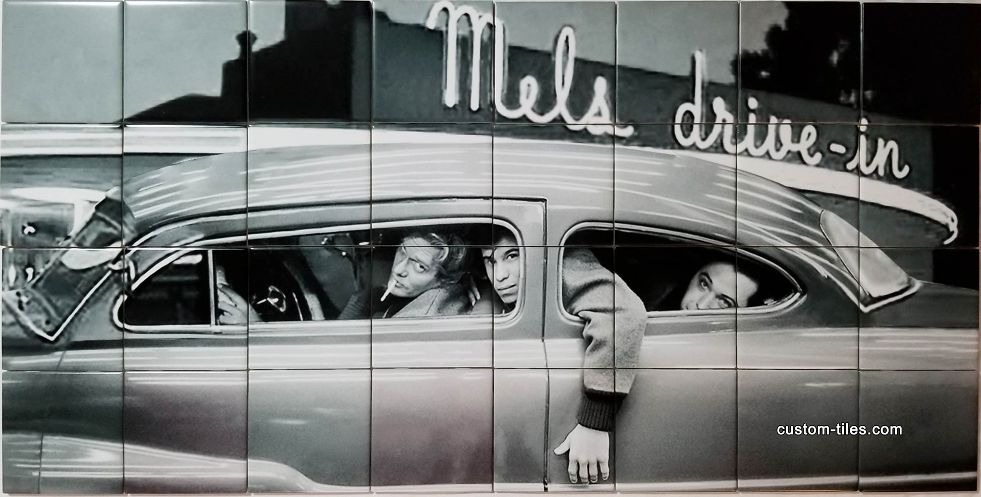 Drive-In Diner Ceramic Tile Mural