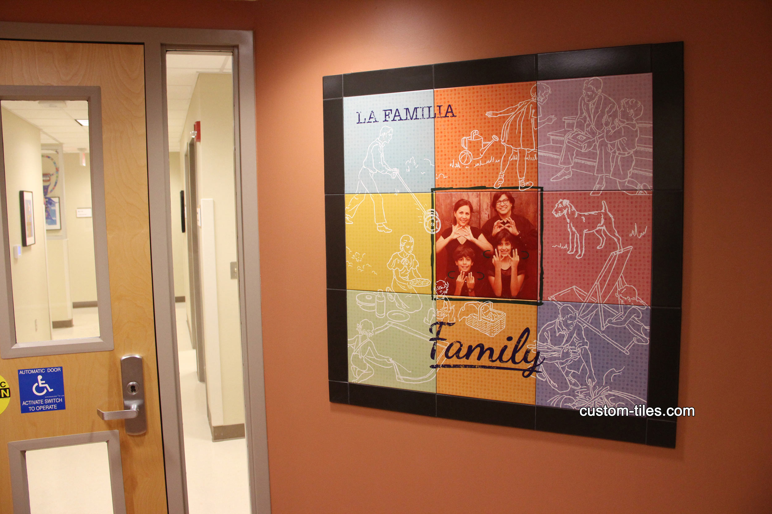 Family Photo Hospital Tile Mural