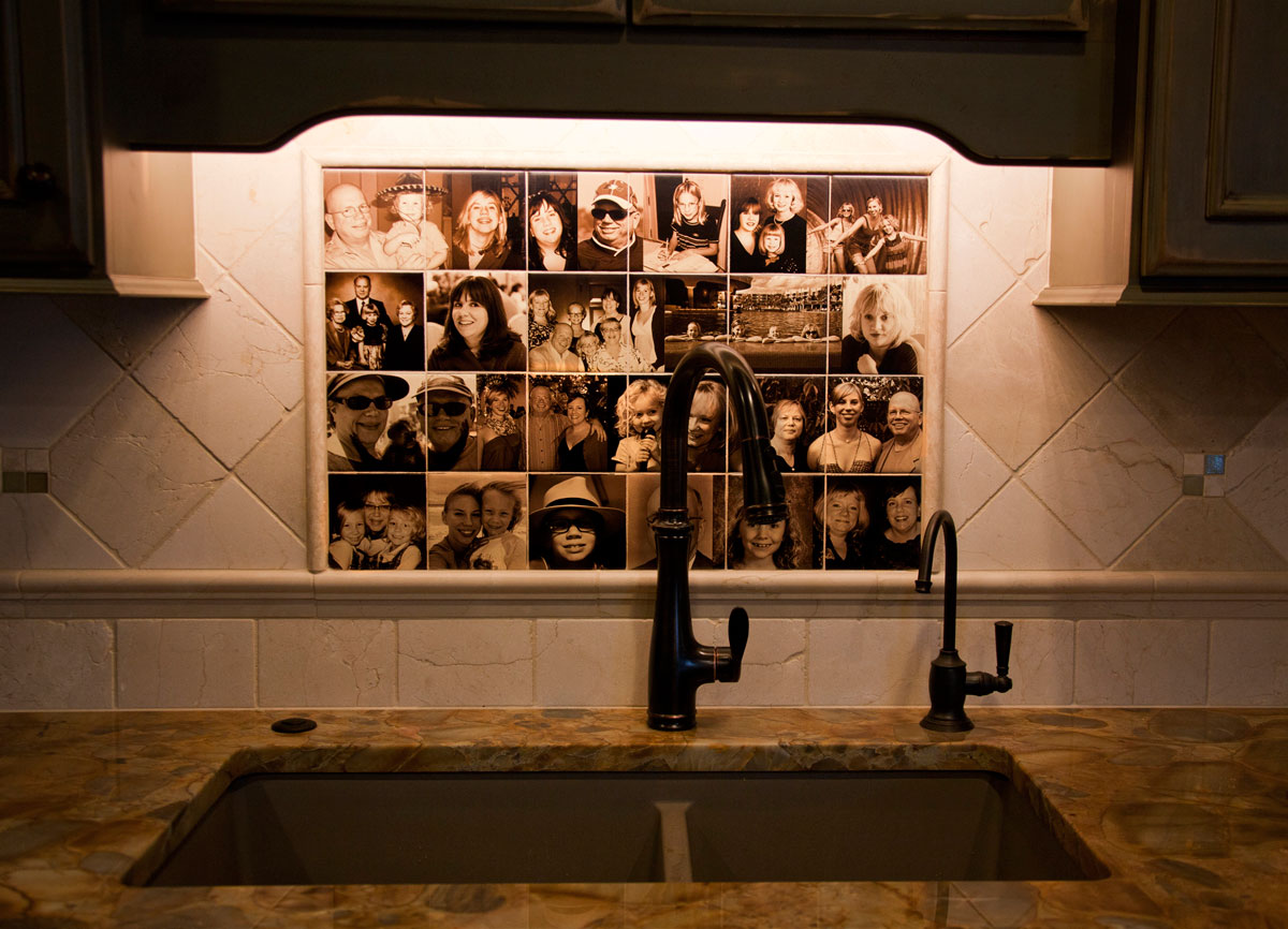 Family Photo Backsplash Tiles