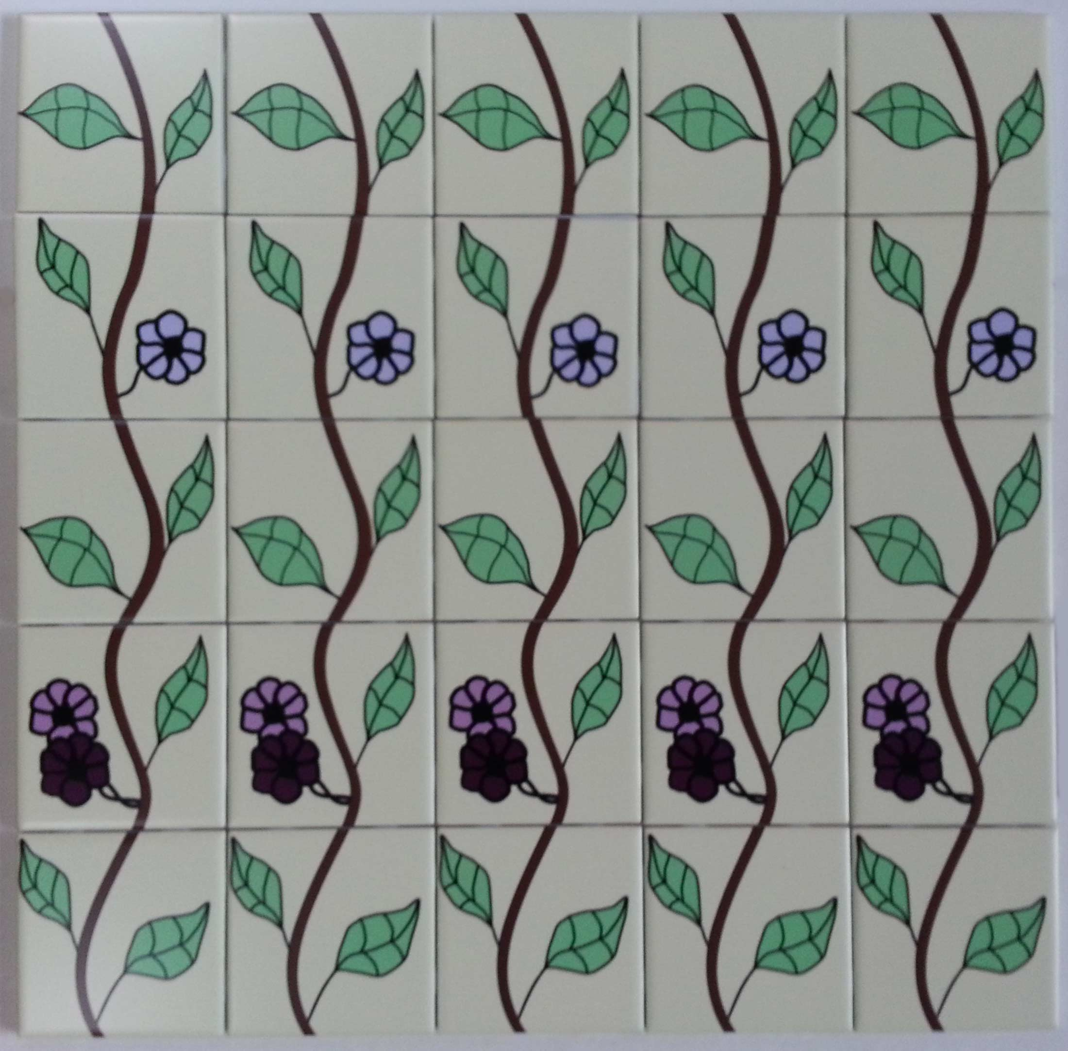 Flowers and Vines Custom Tiles
