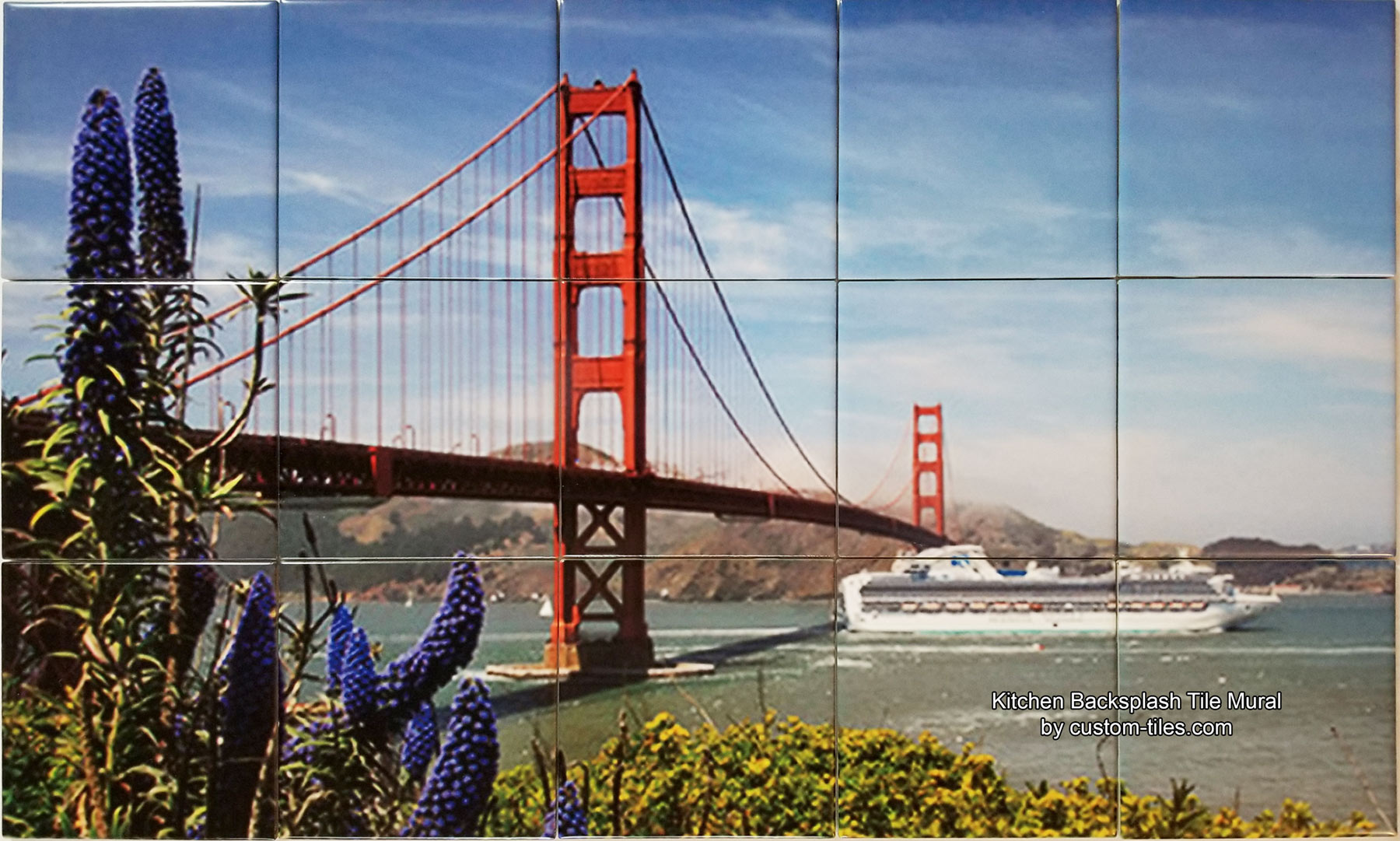 Golden Gate Bridge Tile Mural Backsplash