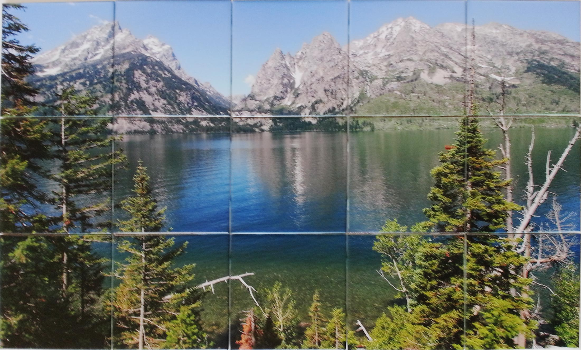 Grand Teton Photo Tile Mural