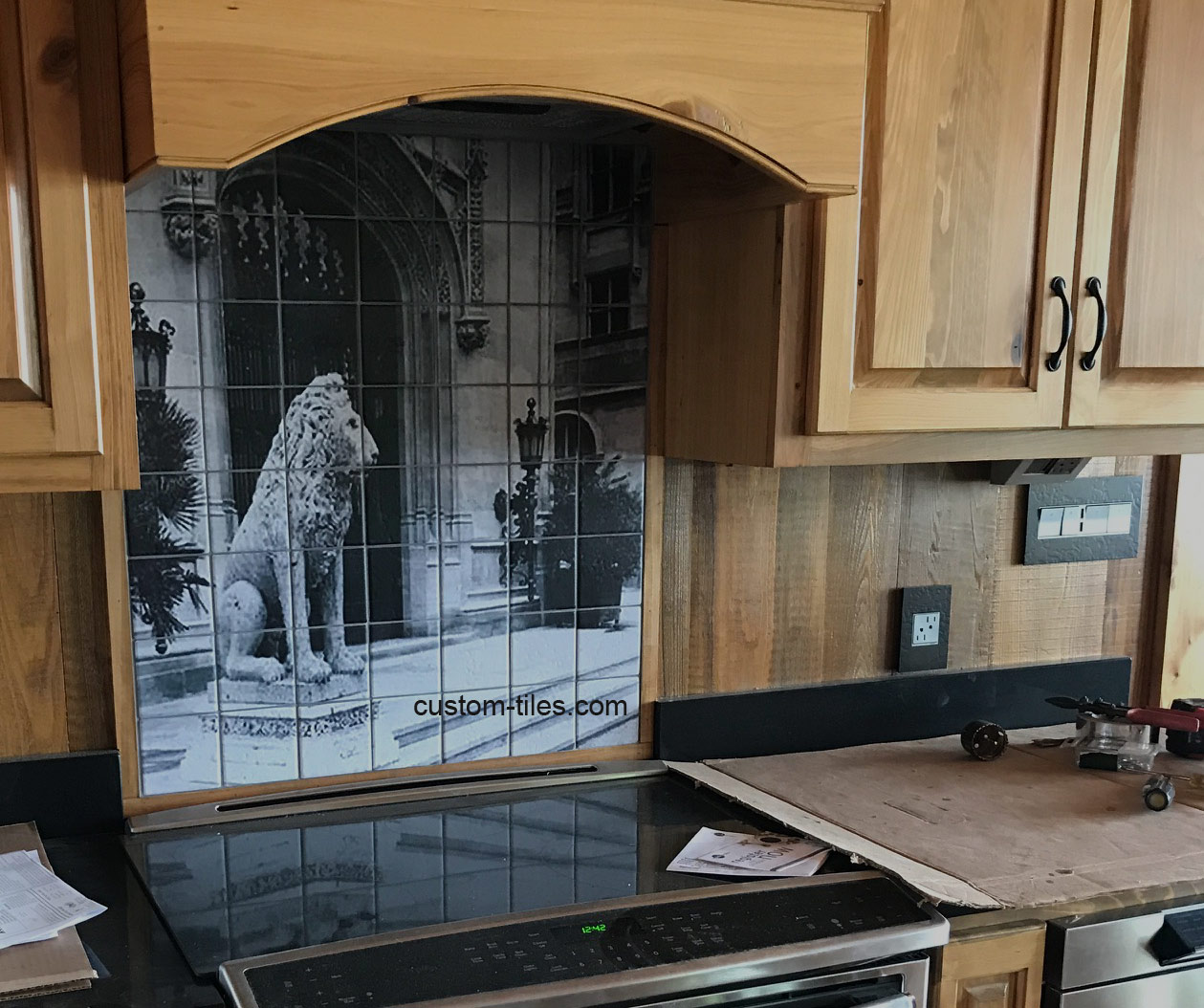 Kitchen Tile Backsplash Biltmore Lion