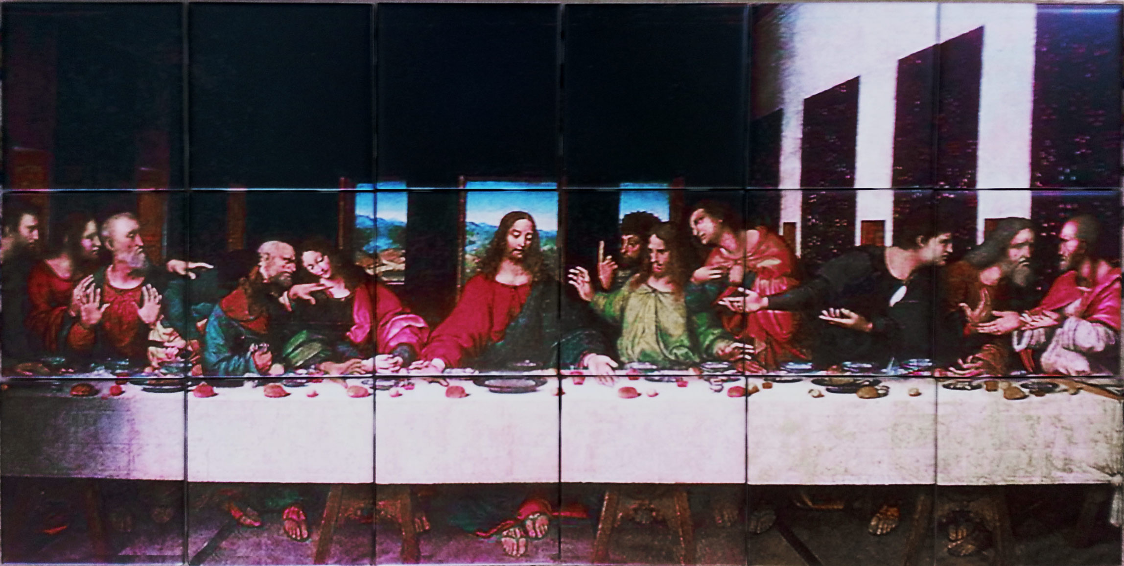 Last Supper Ceramic Tile Mural Backsplash