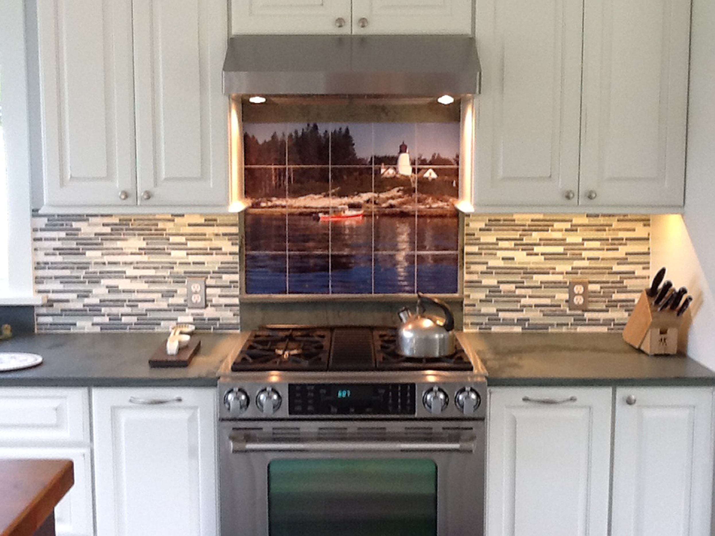 Lighthouse Custom Backsplash Tile Mural