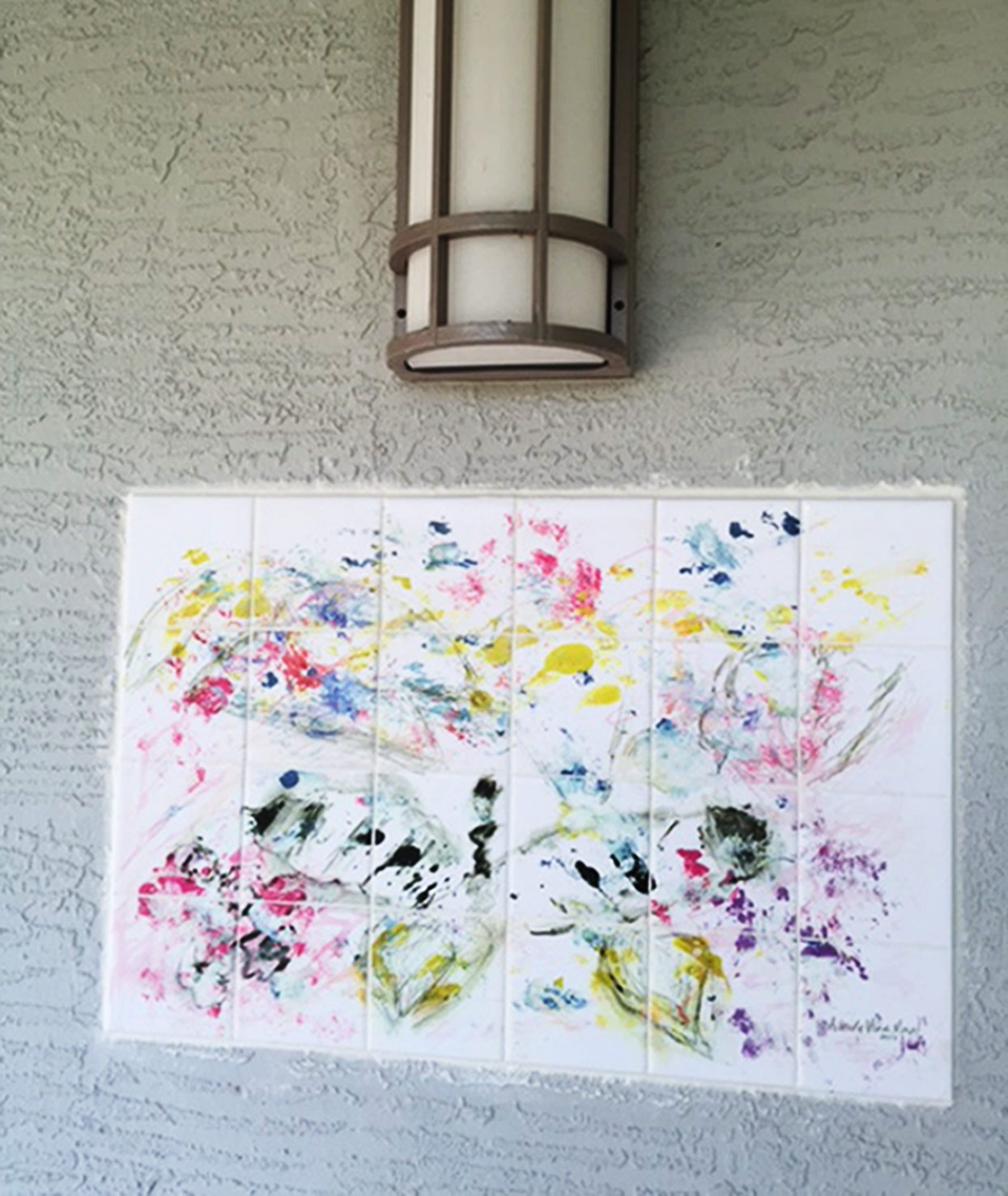Outdoor Tile Mural Abstract Painting
