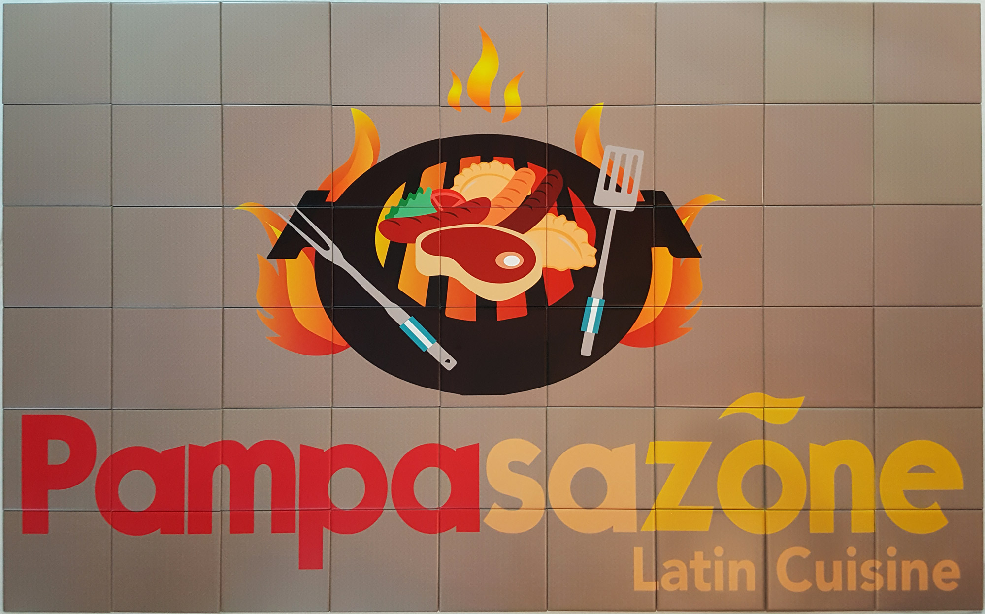 Pampa Restaurant Ceramic Tile Mural