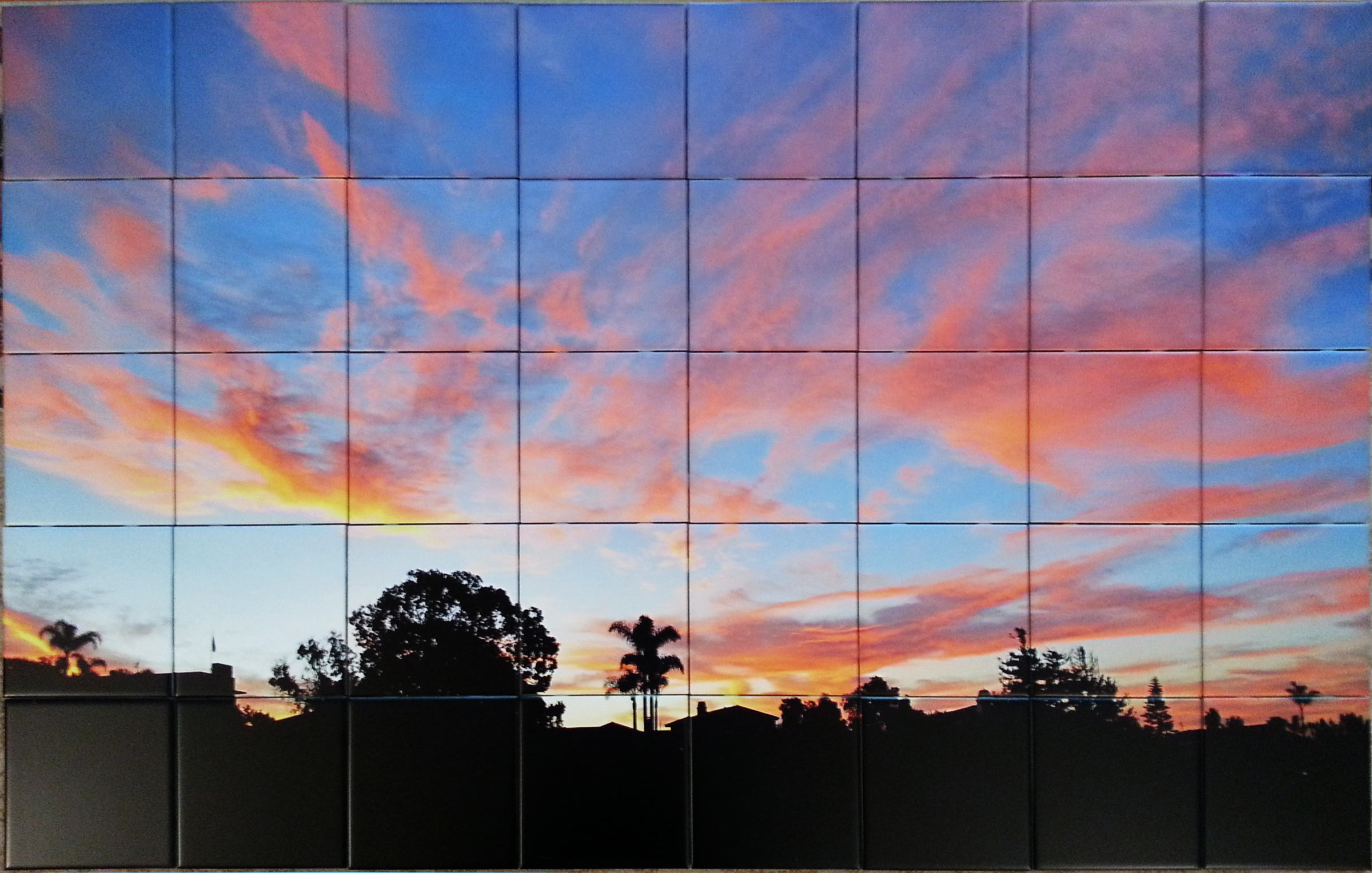 Florida Sunset Photo Tile Mural