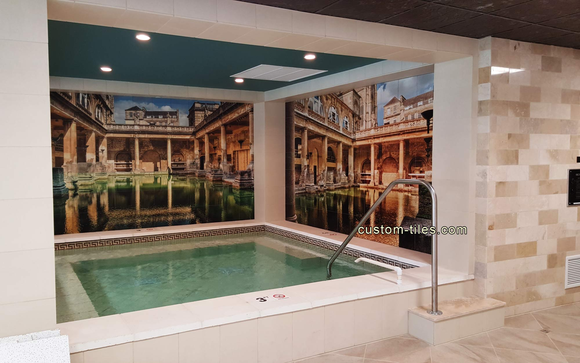 Swimming Pool Custom Tile Mural