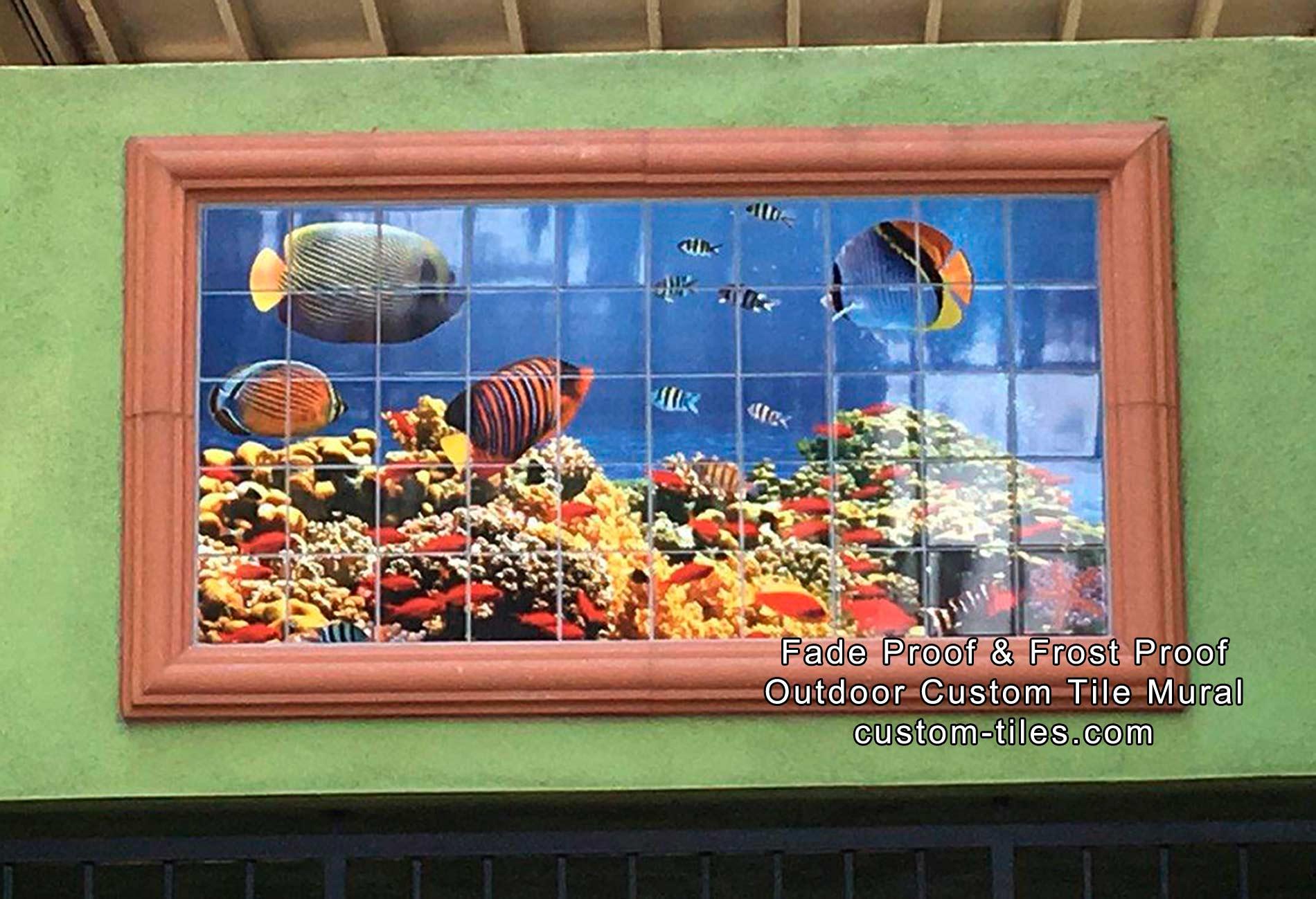 Undersea Photo Outdoor Tile Mural