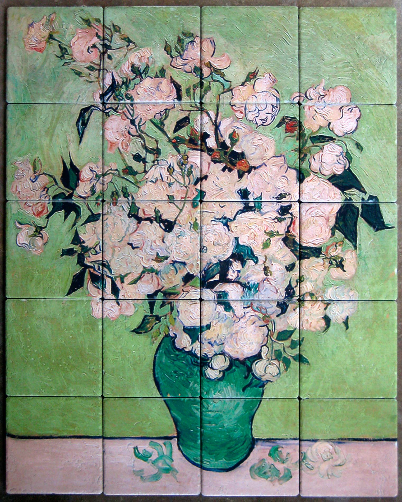 Fine art mural custom tile and tile murals for Artwork on tile ceramic mural