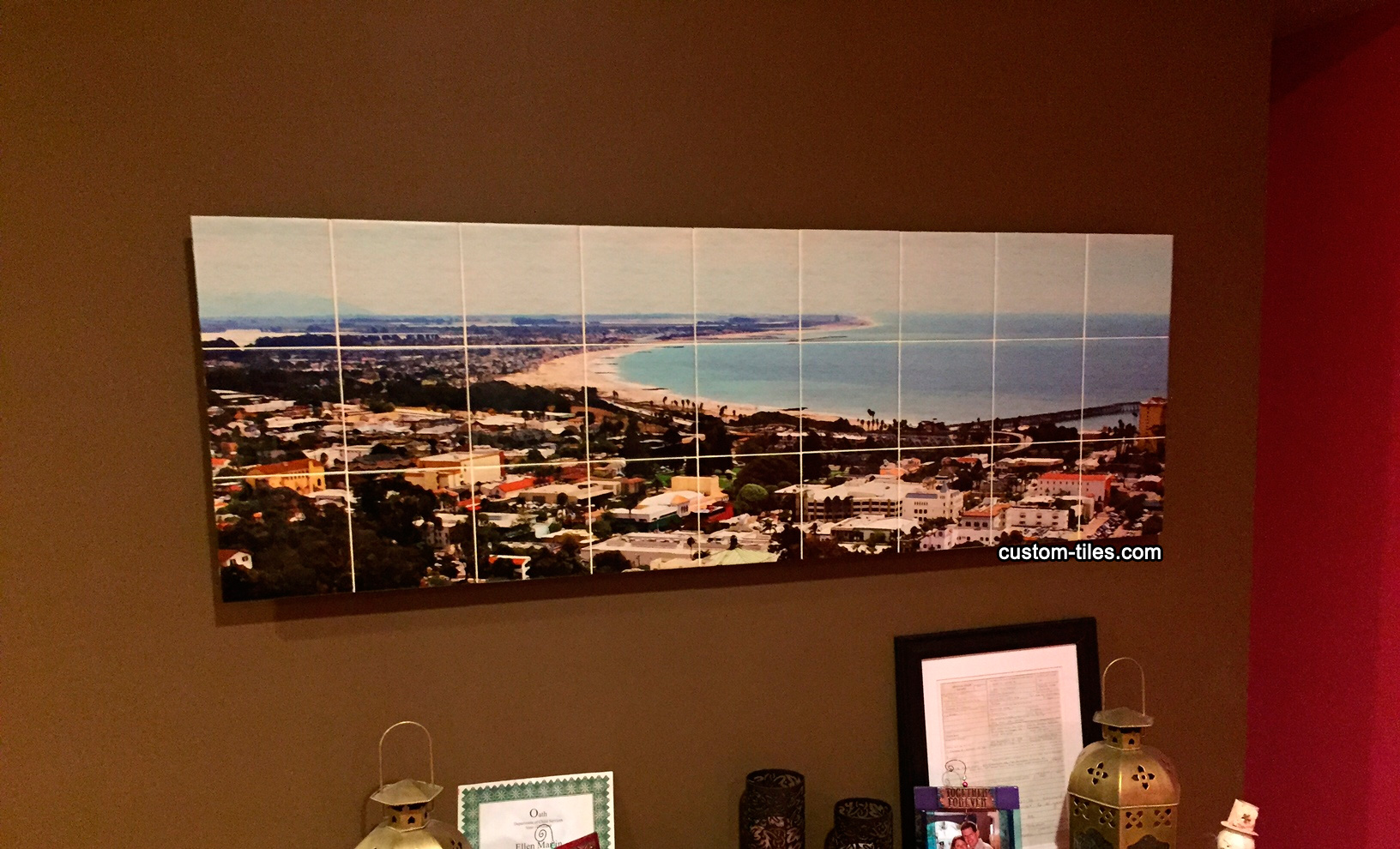 Ventura Beach Custom Tile Mural