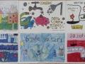 Childrens Art on Fade Proof Outdoor Tiles