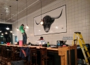 Cow Tile Mural Restaurant Backsplash
