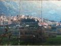 Gallo Maltese Tumbled Tile Mural