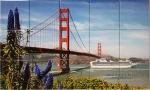 Golden Gate Bridge Tile Mural Backsplash