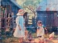Grandmas Place Tumbled Tile Mural
