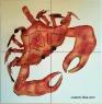 Kessler Crab Ceramic Tile Backsplash Mural