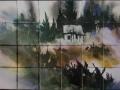 Painted Cabin Ceramic Tile Mural