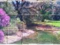 Painting on Tumbled Tile Backsplash