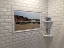 Rocky Beach Ceramic Custom Shower Tile Mural