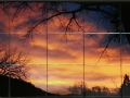 Sunset Ceramic Tile Mural Backsplash