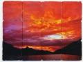 Sunset Tumbled Marble Tile Backsplash