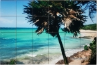 Tropical Beach Custom Ceramic Tile Mural