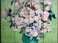 Van Gogh Roses Tumbled Tile Mural