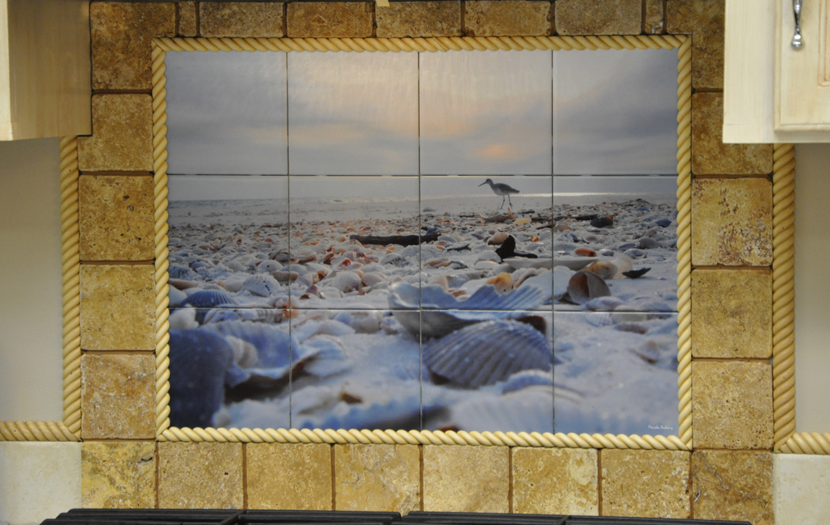 Custom tiles backsplash for Custom mural tiles