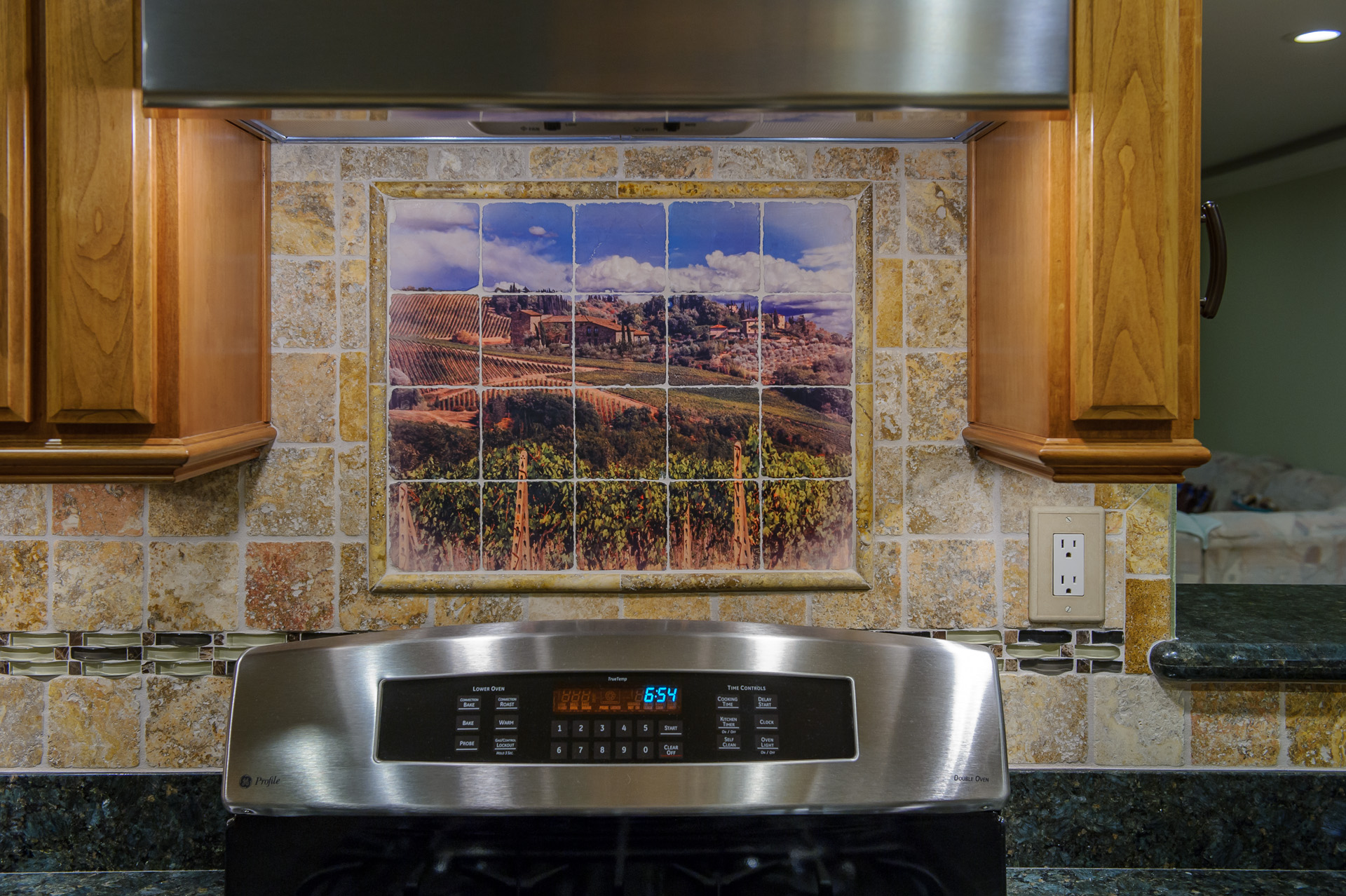 Kitchen ceramic tile mural backsplash joy studio design for Backsplash mural tile
