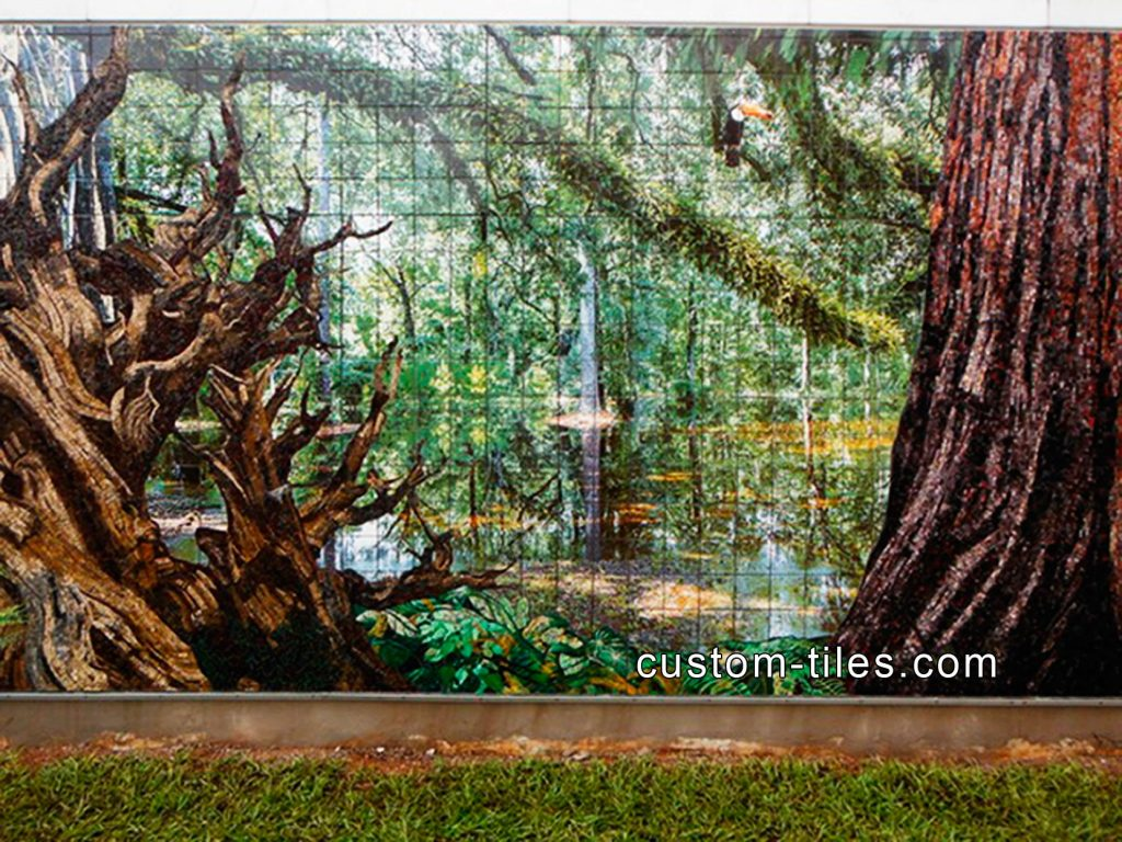 Custom tile kitchen backsplash tile floor tile outdoor for Custom mural tiles
