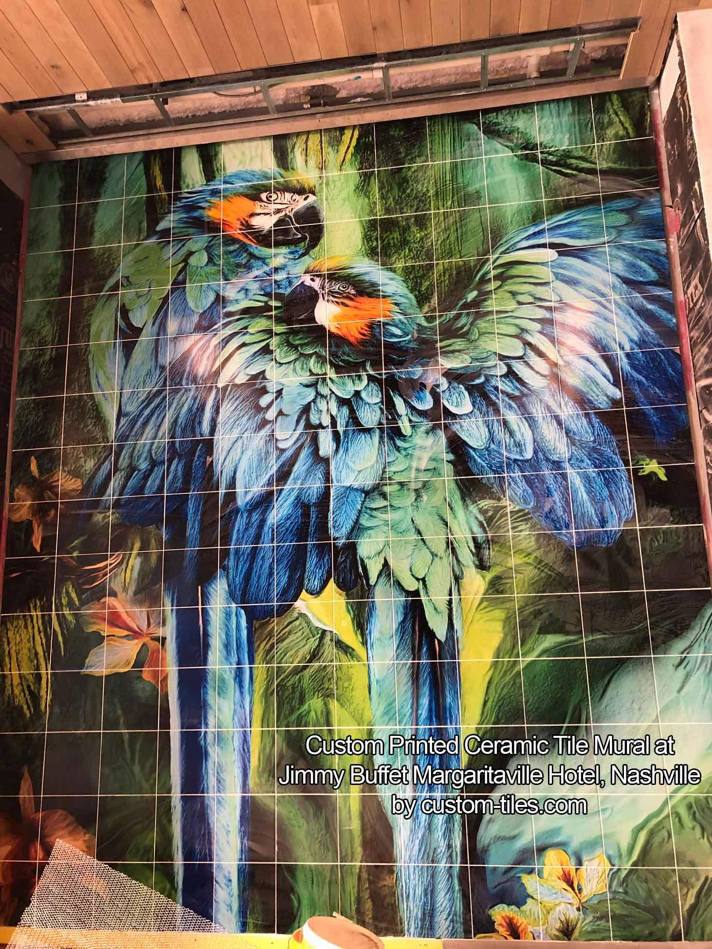 Outdoor Mural Margaritaville Nashville Hotel
